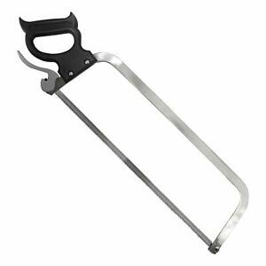 Butcher Saw Meat Cutter Sturdy Stainless Steel Blade Bones Game Easy Fast 22inch