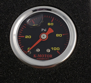 Fuel Pressure Gauge Liquid Filled 1 8 Npt K Motor Performance