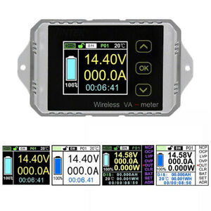 Dc120v Wireless Ammeter Car Voltmeter Battery Capacity Meter Coulometer 50a 300a