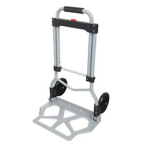 Portable Folding Hand Truck Dolly Luggage Carts Silver 220 Lbs Rtw