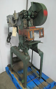 Benchmaster 5 Ton Obi Punch Press Model 151 Single Phase On Stand Made In Usa