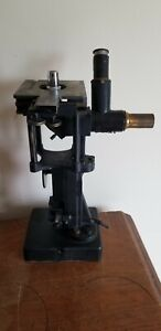 Vintage Bausch Lomb Brass Microscope W Locking Wood Case Extra Lenses Rare