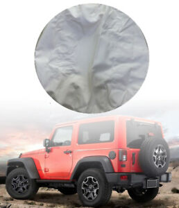 32 33 White Car Spare Tire Tyre Wheel Cover For Jeep Liberty Wrangler T1