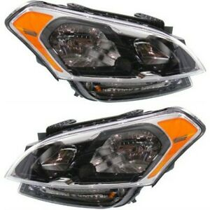 Headlight Set For 2012 2013 Kia Soul Left And Right With Bulb 2pc
