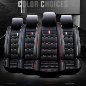 Deluxe Car Seat Cover Full Set Front rear Cushion Protector W Headrest Pillows