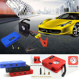 12v Car Jump Starter Booster Portable Auto Charger Power Bank Air Compressor