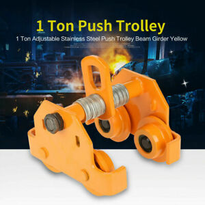 New 1 Ton Steel I beam Push Beam Track Roller Trolley For Overhead Garage Hoist