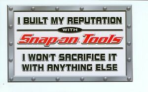 new Vintage Snap on Tools Tool Box Sticker Decal Man Cave Garage Reputation 17