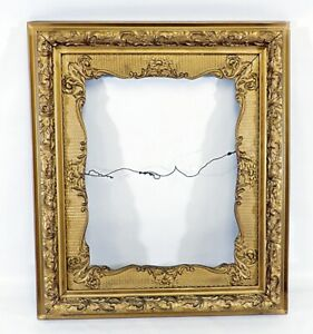 Large Victorian French Baroque Gesso Shadow Box Picture Frame Exquisite