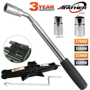 For Fast Car Lifting Telescopic Wheel Lug Nut Wrench 2 Ton Wind Up Scissor Jack
