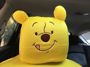 Winnie The Pooh Disney Car Accessory 1 Piece Head Rest Head Seat Cover 10