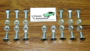 Bumper Bolts 28pc Kit Stainless Cap Front Rear Chevelle Nova Lemans Cutlass