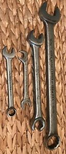 Vintage Proto Combination Wrench Lot 4 Open Ended 12pt Obstruction Hand Tools