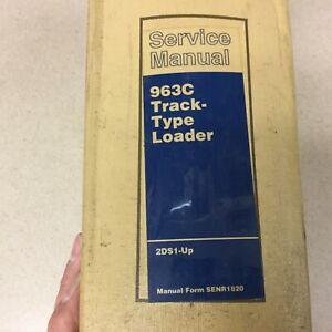 Cat Caterpillar 963c Service Shop Repair Manual Track Loader Guide Sn 2ds1