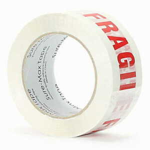 fragile Handle W Care Printed Tape 110 Yards Packing Moving Shipping Glass