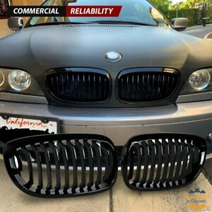 Gloss Black Front Kidney Grill For Bmw E46 Coupe 325ci 330ci Lci 2dr 2003 2006
