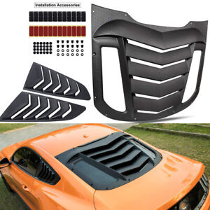 Rear Window Louver Quarter Side Scoop Vent Sun Shade Cover Hood For Ford Mustang