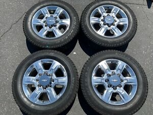 2018 Chevy Hd2500 Hd 2500 Factory 20 Wheels Tires Oem Rims 5803 Polished Chevy