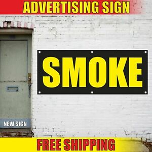 Smoke Advertising Banner Vinyl Mesh Decal Sign Vape Hookah Bar Shop House Cigars