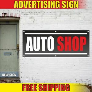 Auto Shop Advertising Banner Vinyl Mesh Decal Sign New Store Now Open Car Repair