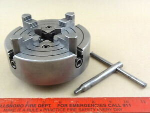 Excellent Original South Bend 9 10k Skinner 6 Reversing 4 Jaw Lathe Chuck 4006