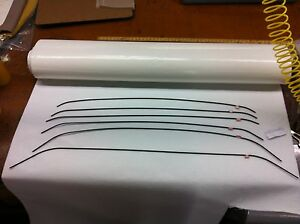 68 69 70 Dodge Charger Headliner Bow Set Of 6 new