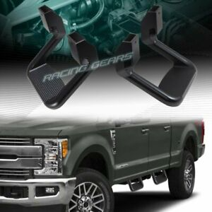 2 X Black Texture Coated Die cast Aluminum Truck Suv Pickup Nerf Side Step Bar