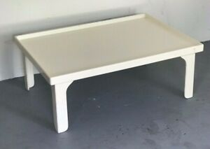 Mcm 1960 S Painted White Asian Transitional Coffee Table