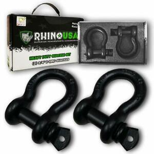 2p Rhino Usa Dring Tow Strap Off Road Truck Vehicle Recovery 3 4 Shackle7 8 Pin
