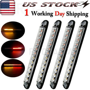20x 3 4 Marker Lights Led Truck Trailer Round Side Bullet Light Amber Red 12v