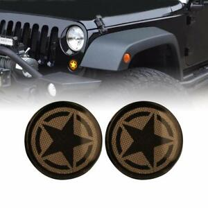 07 18 Jeep Wrangler Jk Jku Smoked Star Turn Lights Fender Side Marker Pair