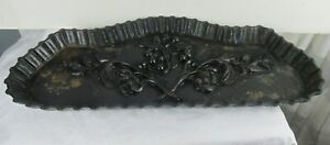 Victorian Cast Iron Black Umbrella Stand Cane Holder Drip Tray Only
