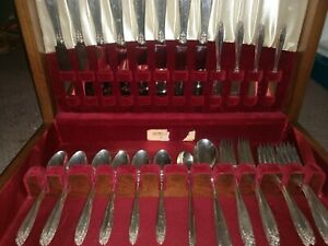 Prelude By International Sterling Silver Flatware Set For 8 Service 54 Pieces