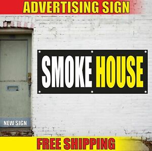Smoke House Advertising Banner Vinyl Mesh Decal Sign Vape E cigs Hookah Bar Shop