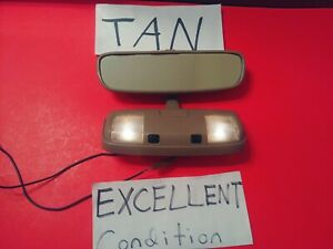 Oem 95 96 97 98 Toyota 4runner Rear View Mirror Overhead Dome Tan Beige Nice