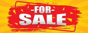 Vinyl For Sale Banner Yellow And Red Signage For Retail Business 3 X 8