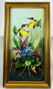 Vintage Hand Painted Porcelain Plaque Flowers Signed Krail Mettlach Germany 1