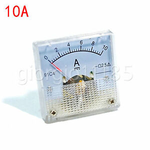 Us Stock Dc 0 10a Analog Amp Current Pointer Needle Panel Meter Ammeter 91c4