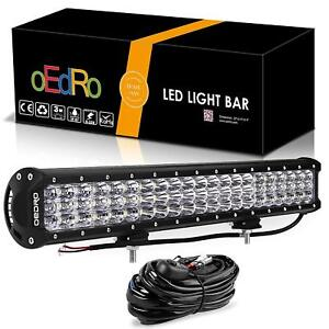 Oedro 189w 20inch Led Light Bar Combo Light Off Road Lights With Free Wiring Kit