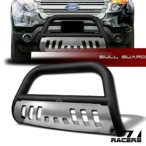 For 2011 2018 Ford Explorer Matte Black Bull Bar Brush Bumper Grille Guard Skid
