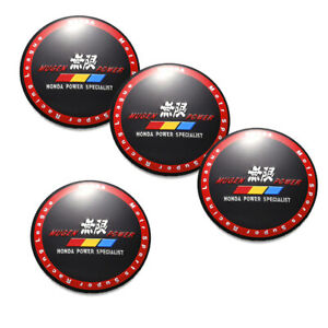 4pcs 56mm 2 2 Mugen Power Aluminum Car Wheel Center Hub Cap Emblem Stickers