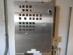 Hoffman 48 X 36 Stainless Steel Control Cabinet W Switches Lights Vfd Etc