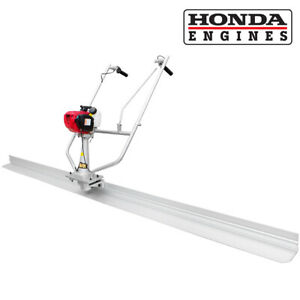 10ft Concrete Surface Finishing Screed Leveling Ruler Tamper Honda 4 stroke Gas