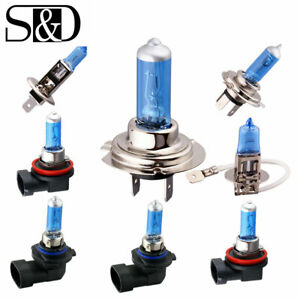 2x H4 H7 H11 9005 9006 55w 100w Car Halogen Head Light Fog Bulbs 5000k White 12v