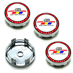 4pcs 60mm 2 36 Car Wheel Center Caps Hub Caps Emblem For Honda Acura Mugen