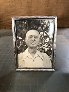 Antique Vintage 6x8 Wood Picture Frame Looks Like Silver Metal Excellent