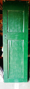 80 X 24 Antique 2 Panel Vintage Interior Inside Exterior Tall Door Solid Wood