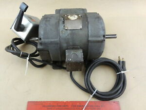 Nice Prewired Driver 1725 Rpm 1 2 Hp Forward Reversing Lathe Motor W Switch