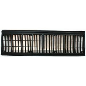 Grille For 91 96 Jeep Cherokee Black Plastic