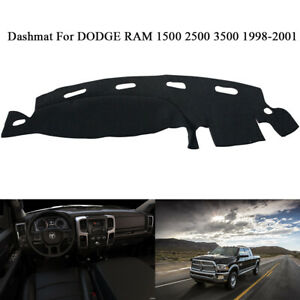 Dashboard Mat Cover For 1999 Dodge Ram1500 2500 3500 Protector Pad Black Nonslip